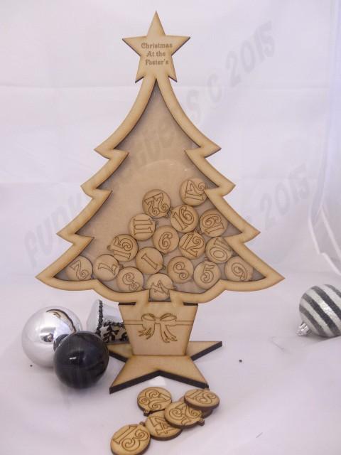 Wooden Advent Calendars Handmade Countdown Calendar