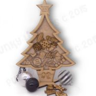 Finlee and Me Wooden Advent Calendars Christmas Countdown Calendar Trinkets