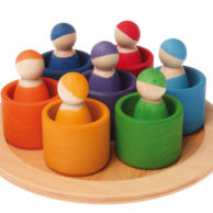 Finlee and Me Wooden Toys 7 Friends in 7 Bowls