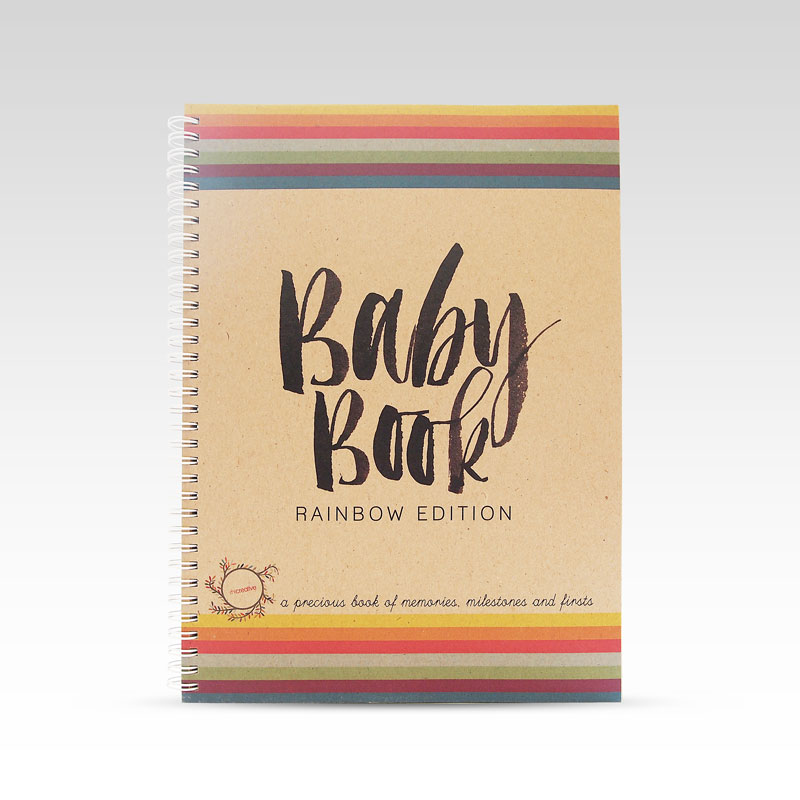 Kids Keepsake Books-Rainbow Baby Memory Book