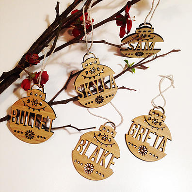 Personalised Christmas Decorations Detailed Name Ornaments