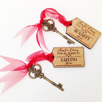 Personalised Christmas Ornaments- Santa Key