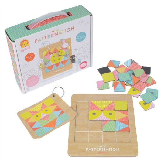 educational toys for 4 year olds Tiger Tribe- Wooden Toys- Mini Patternation Pattern Making Board