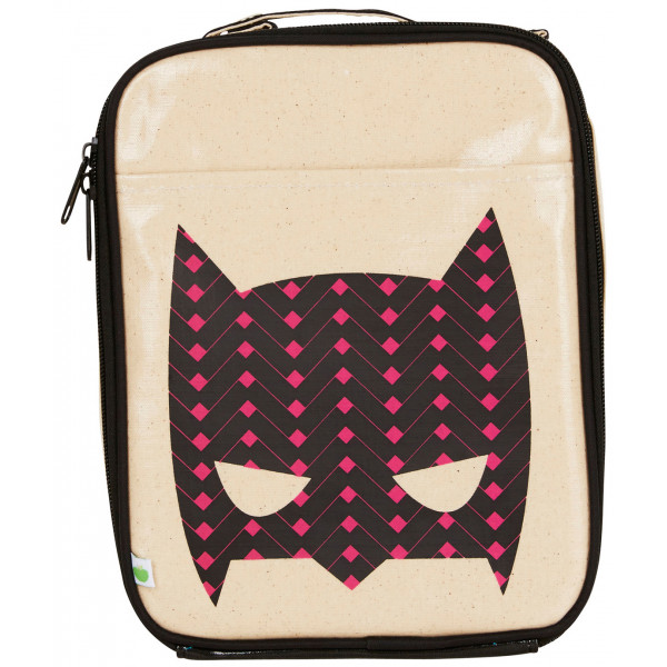 apple and mint pink superhero lunch bag