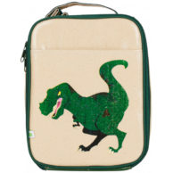 apple and mint dinosaur lunch bag