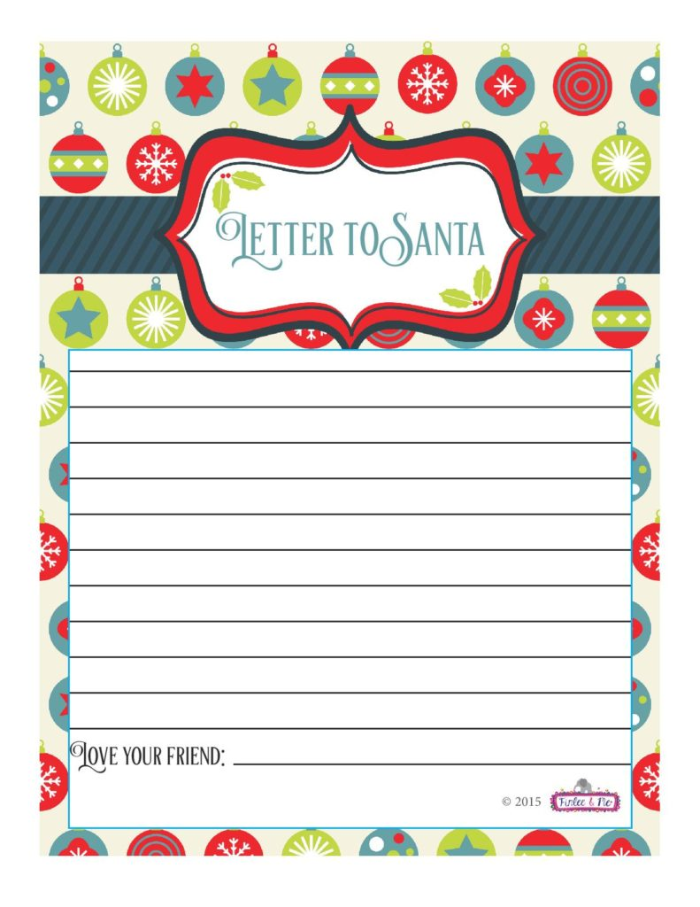 Free Printable Santa Letters  Christmas Activities  Finlee And Me
