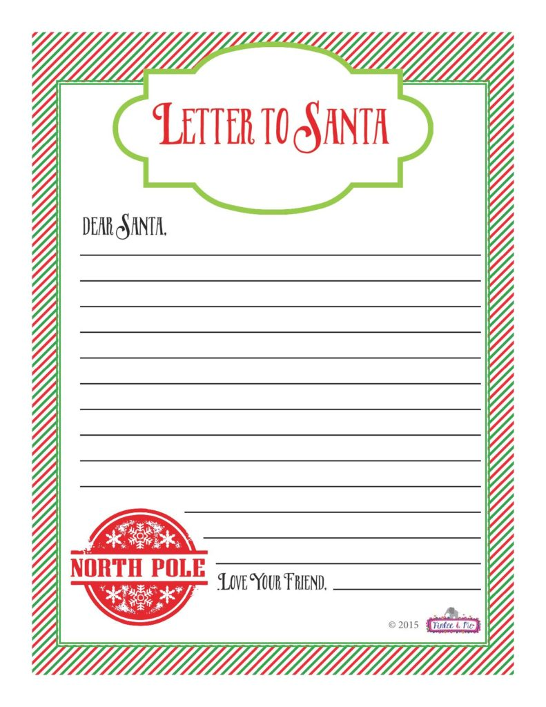 It's just a photo of Gorgeous Santa Letter Templates Free Printable