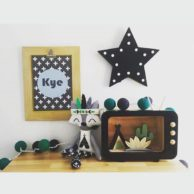Finlee and Me- Kids Room Décor- Wooden TV Shadow Boxes BLACK