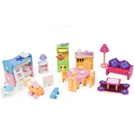 Le Toy Van- Dollhouse Furniture- Deluxe Furniture Set