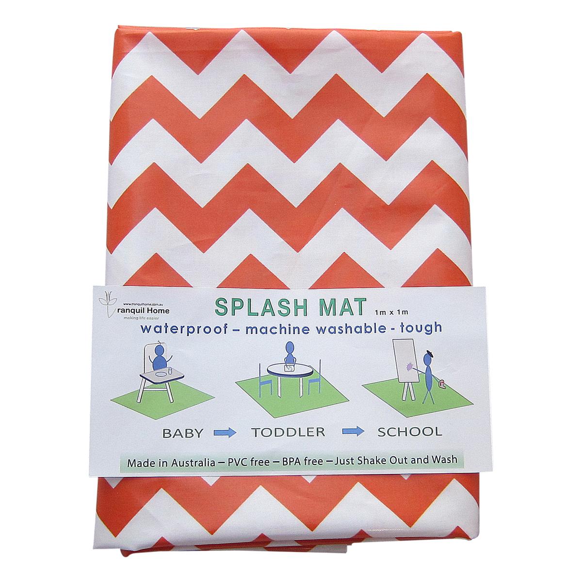 Messy-Mat-High-Chair-Splash-Mat-orange-chevron