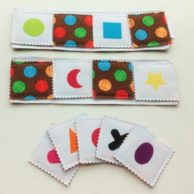 Two in One Fabric Game: Memory Game & Bingo – Brown with Spots