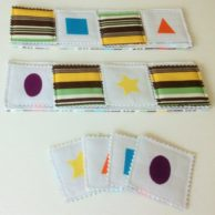 Two in One Fabric Game: Memory Game & Bingo – Brown Striped