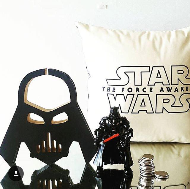 Finlee and Me- Kids Piggy Bank- Coin Banks {Darth Vader}