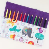 Finlee and Me – Kids Travel Toys – Pencil Roll Animal Safari