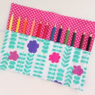 Finlee and Me – Kids Travel Toys – Pencil Roll Pink Posies