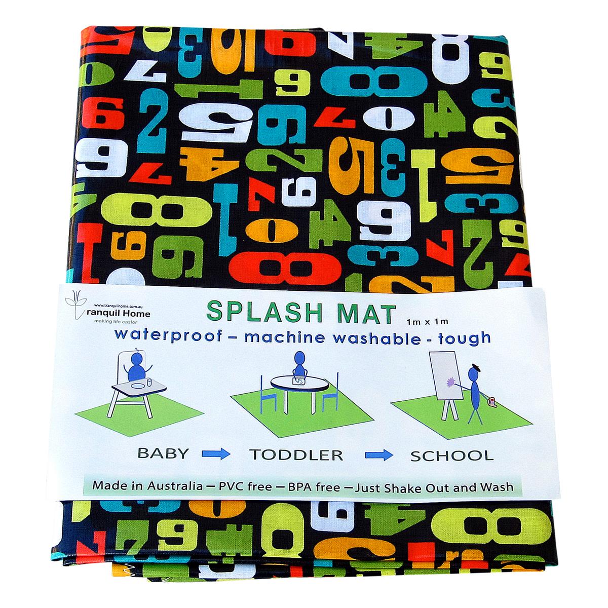 Messy Mat-High Chair Splash Mat NUmbers