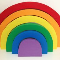 Finlee and Me – Educational Toys – Wooden Rainbow Puzzle {Brights}