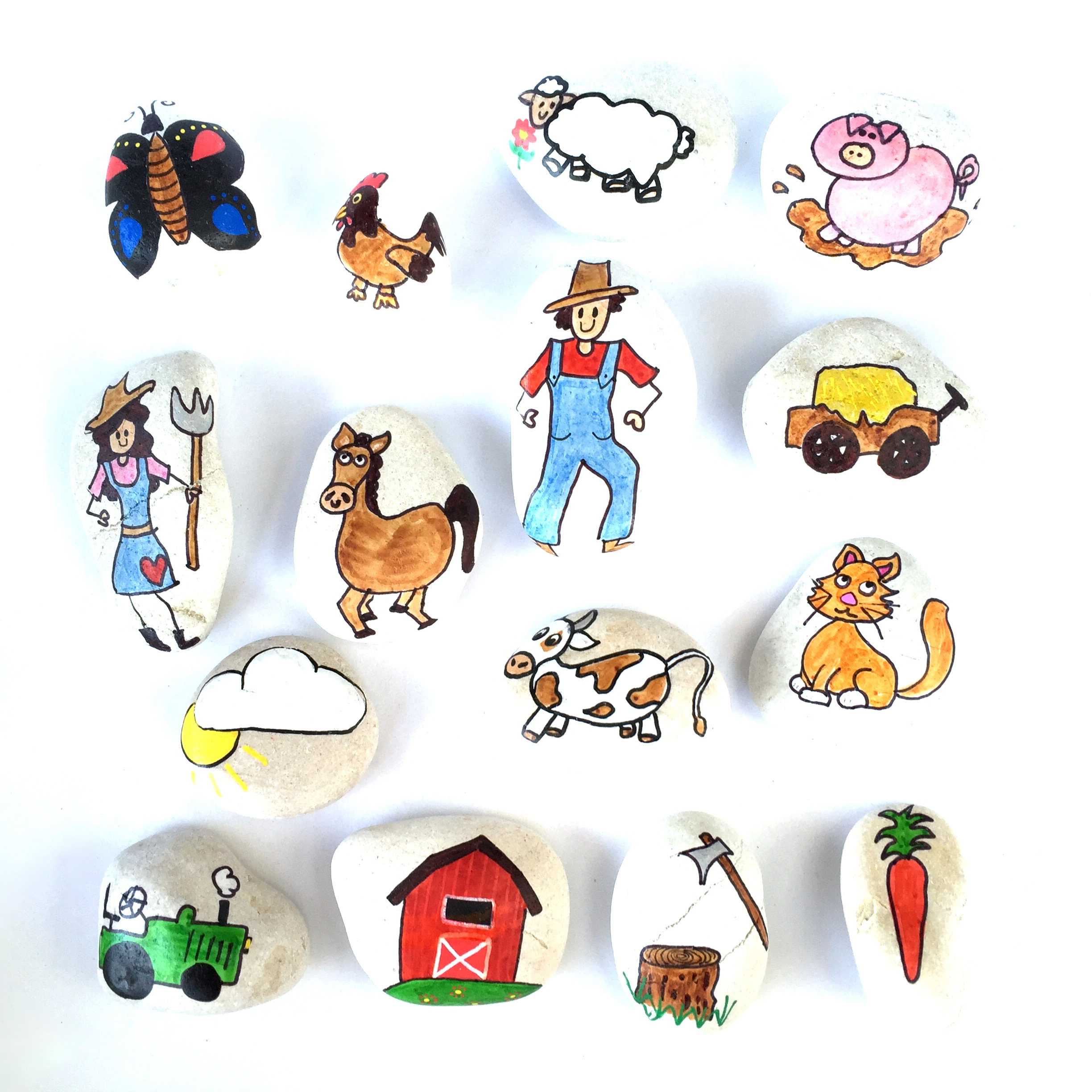Finlee and Me – Educational Toys – Story Stones {Farmyard Set}