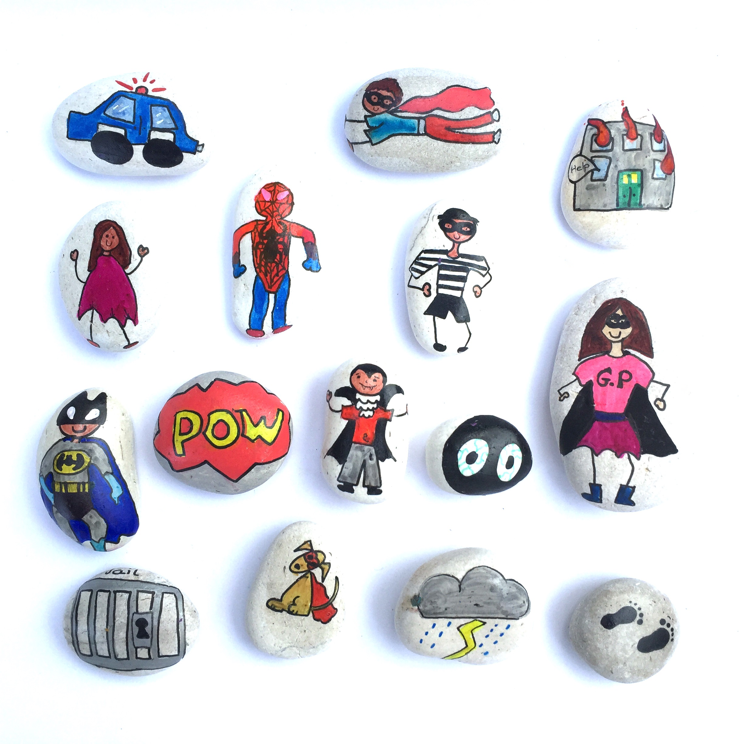 Finlee and Me – Educational Toys – Story Stones {Superhero Set}