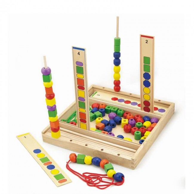 Finlee and Me – Wooden Educational Toys – Bead Sequence