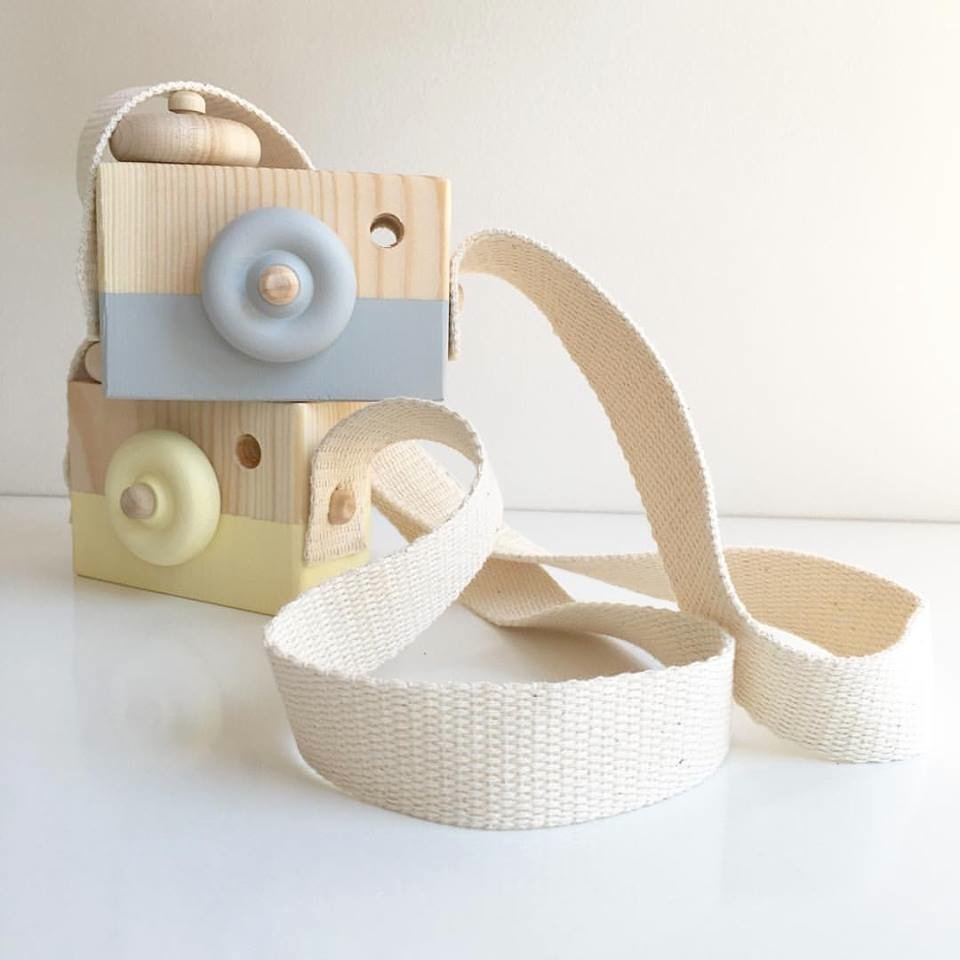 Finlee and Me – Wooden Toys – Toy Camera {Grey}