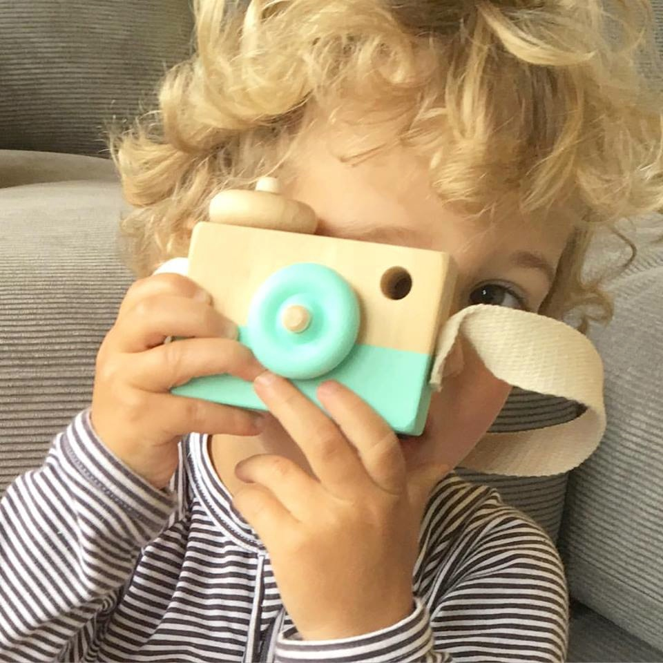 Finlee and Me – Wooden Toys – Toy Camera {Mint}