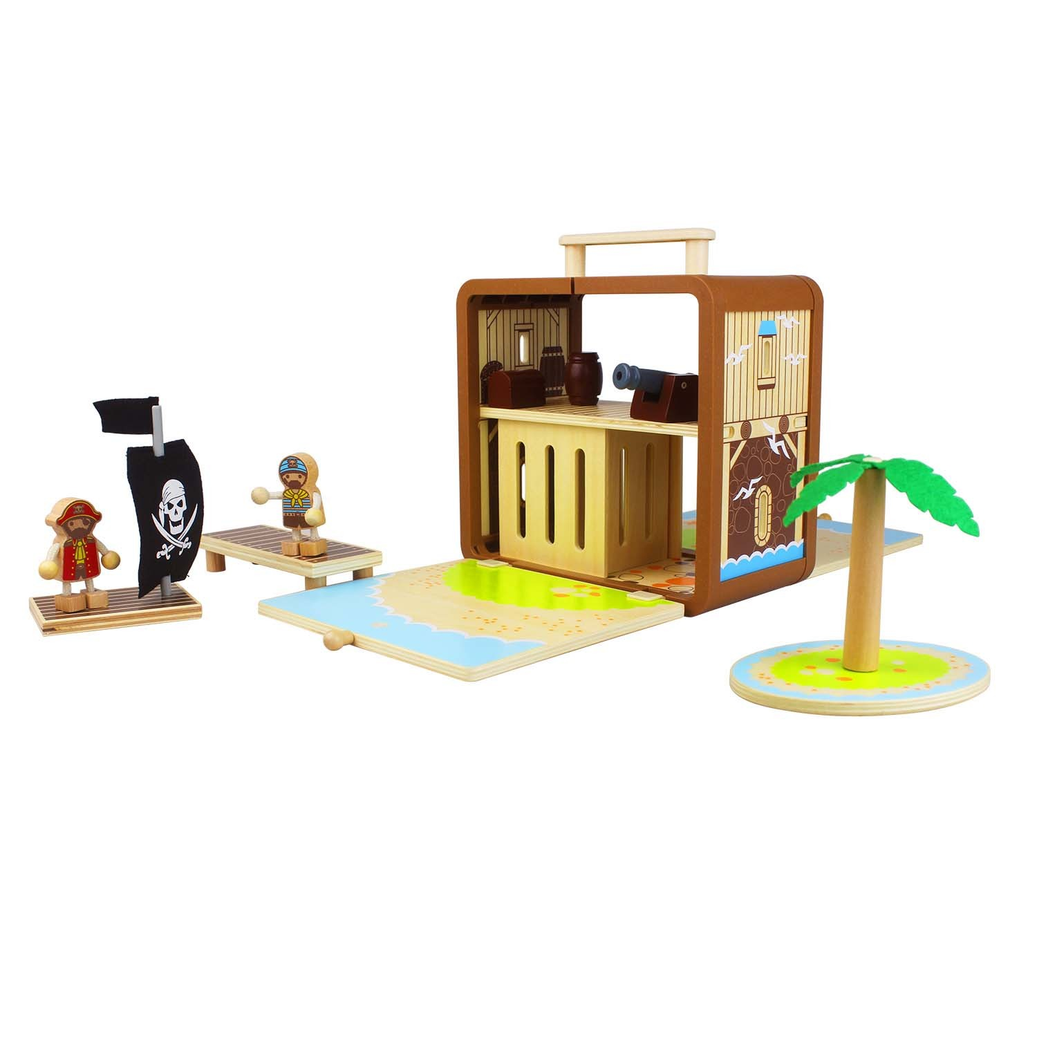 Tiger Tribe – Wooden Toys – Boxsets for Kids {Pirate Island}