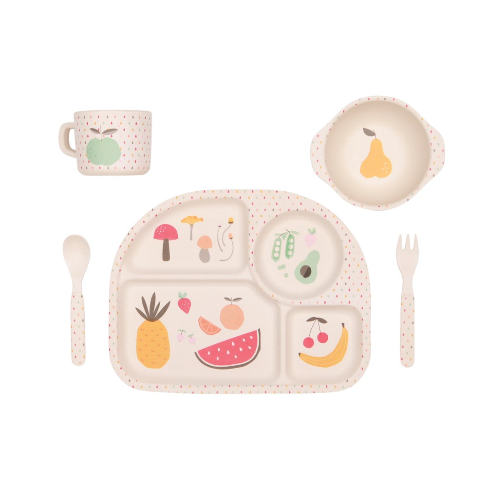 Kids Dinnerware- Bamboo Dinner Set {Eat Your Greens}