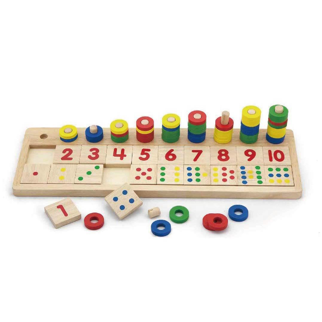 Finlee and Me – Wooden Educational Toys – count and match set