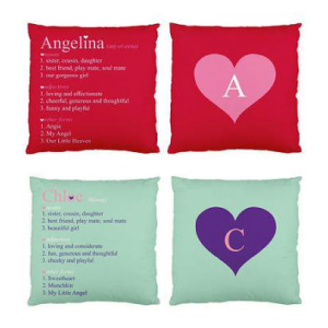Personalised Descriptive Cushions