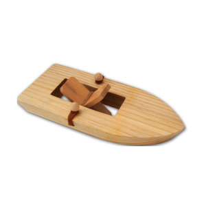 Rubber Band Wooden Paddle Boat