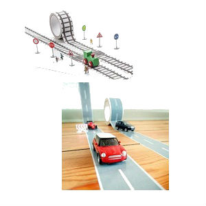 Car and Train Tape Kits for Kids