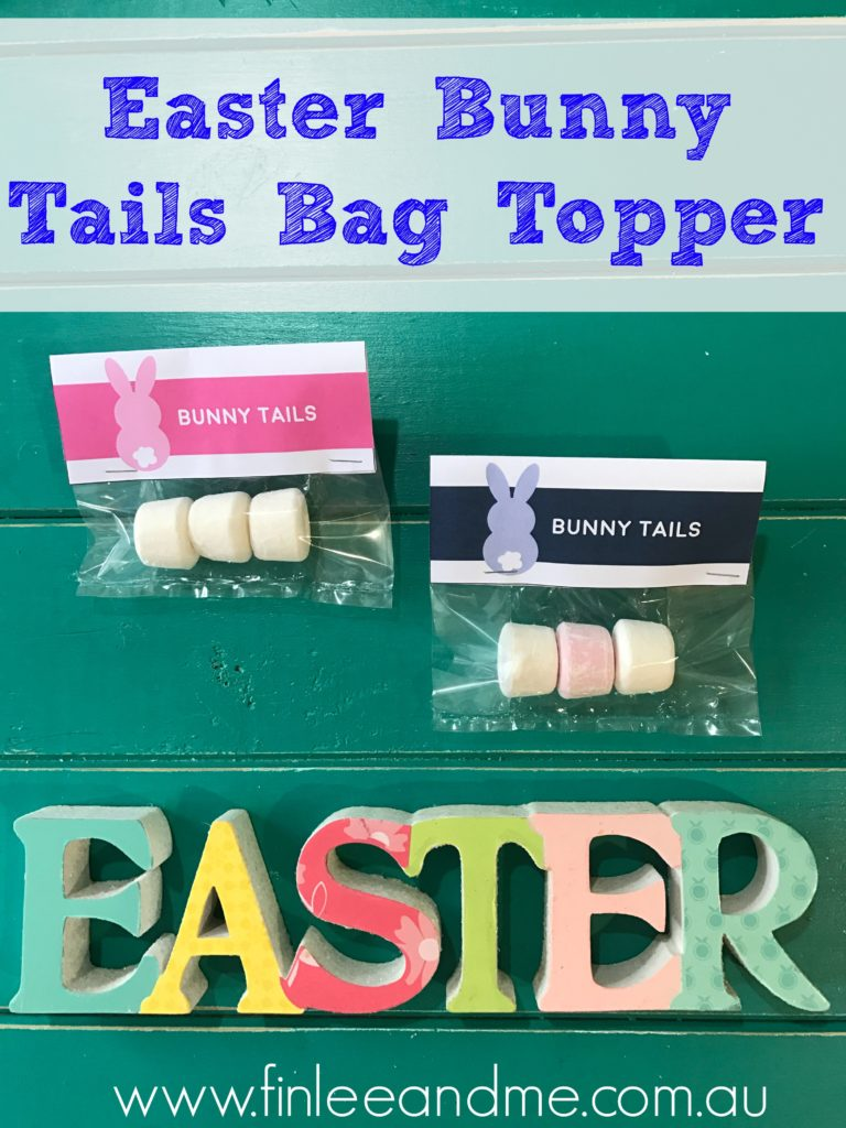 easter bunny tails bag topper