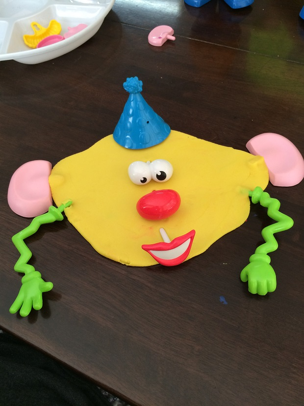 Fun with playdough Finlee and Me