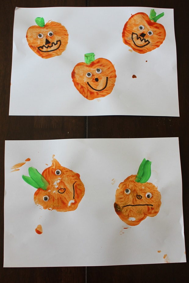 Homemade stamps for kids with Finlee and Me