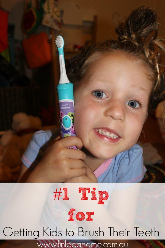 getting kids to brush their teeth