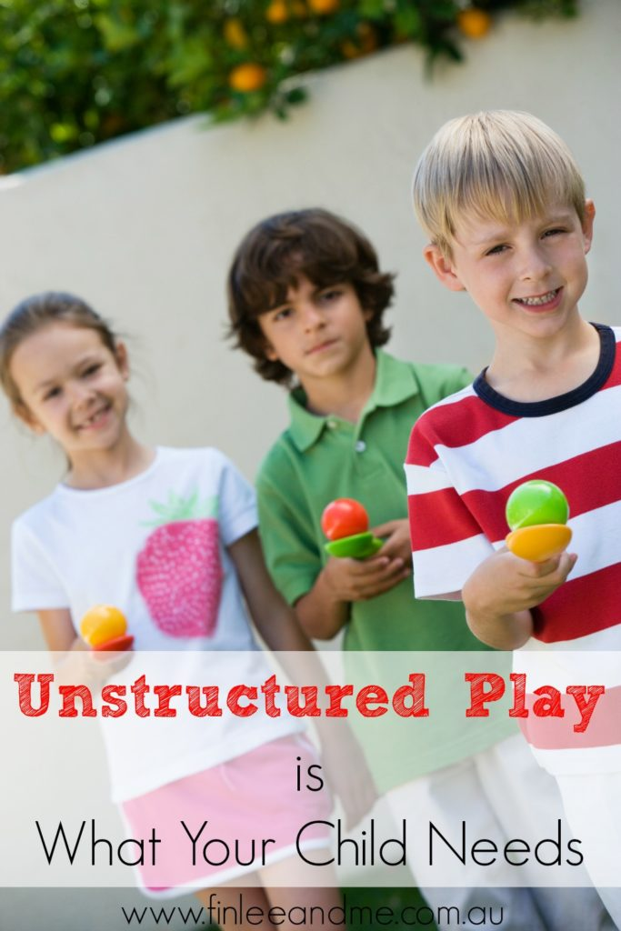 unstructured play for kids